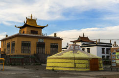 A Ger in Monastery in Mongolia Stock Photos