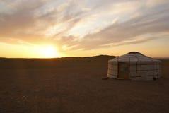 Ger in Mongolië Stock Foto
