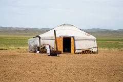 Ger Mongolia Ásia central Imagem de Stock Royalty Free
