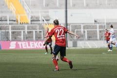 GER: MULHERES DE FC BAVIERA - MULHERES DO MSV DUISBURG, 09 23 2018 imagens de stock