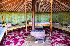 GER nomade in Mongolia Fotografia Stock Libera da Diritti