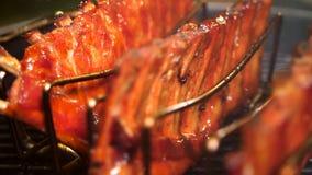 Ger?ucherte Schweinefleisch-Rippen lizenzfreie stockbilder