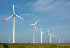 Geração das energias eólicas imagens de stock royalty free