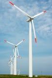 Geração das energias eólicas da conservação de natureza Fotos de Stock Royalty Free