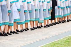 Geração nova de graduados tailandeses foto de stock