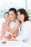 Gerações de uma família asiática imagem de stock