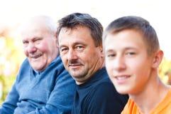 Gerações masculinas Imagens de Stock