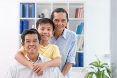 Gerações masculinas fotografia de stock royalty free