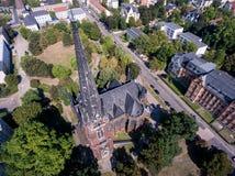 Gera aerial view Johanniskirche town church Stock Photo