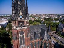 Gera aerial view Johanniskirche town church Royalty Free Stock Photos