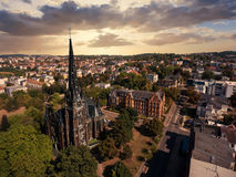 Gera aerial view Johanniskirche town church Royalty Free Stock Image