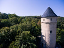 Gera castle osterstein aerial view thuringia medieval Royalty Free Stock Images