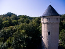 Gera castle osterstein aerial view thuringia medieval Royalty Free Stock Image
