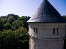 Gera castle osterstein aerial view thuringia medieval Stock Photo