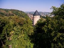 Gera castle osterstein aerial view thuringia medieval Stock Photos