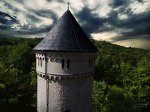 Gera castle osterstein aerial view thuringia medieval Stock Photography