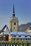 Gera. The Marienkirche in Gera in winter Royalty Free Stock Photos