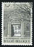 Geraardsbergen Abbey entrance. RUSSIA KALININGRAD, 19 OCTOBER 2015: stamp printed by Belgium, shows Geraardsbergen Abbey entrance, circa 1982 Royalty Free Stock Photos