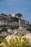 Gerace, alte Stadt in Kalabrien, Süd-Italien stockfotografie