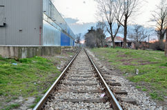 Gerade Bahnstrecken Stockbild