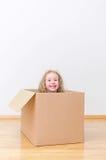 Gerade bewegt in ein neues Haus Stockfotos