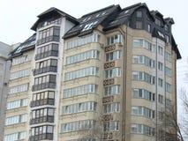 Gerade builded flaches Haus der modernen Wohnungen Stockfotos