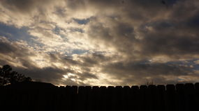Gerade die Wolken Lizenzfreie Stockfotografie