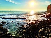 Gerade ein anderer Tag am Strand Stockbilder