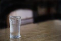 Gerade ein Glas Wasser Stockbild