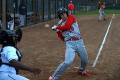 Gerade ein kleines Innere Highschool Baseball stockfotografie