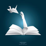 Gerade Freiheits-Papiergraphik-Art Lizenzfreie Stockfotos