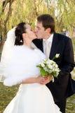 Gerade geheiratet. stockbilder