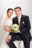Gerade geheiratet. Lizenzfreie Stockfotografie