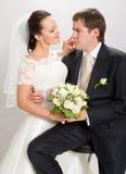 Gerade geheiratet. Stockfoto