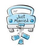 Gerade geheiratet stock abbildung