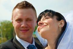 Gerade geheiratet Stockfotografie