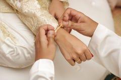 Gerade geheiratet! Stockbild