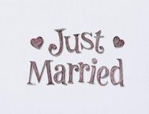 Gerade geheiratet Lizenzfreie Stockbilder