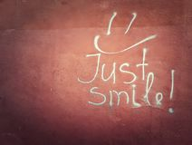 Gerade Lächeln lizenzfreie stockfotos