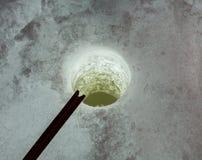 Gerade liegt aufgefangener Fisch auf Eis Stockfotos