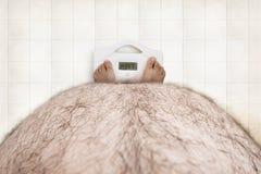 Gerade normales Fett Stockfotos