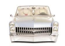 Gerade verheiratete Sparschweine in einem Auto Stockbild