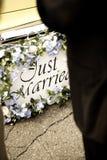 Gerade verheirateter Anschlagpuffer Stockbilder