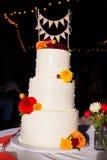 Gerade verheirateter Kuchen-Deckel Stockbilder