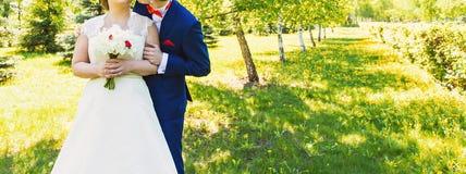 Gerade verheiratetes Paar umfasst stockbilder