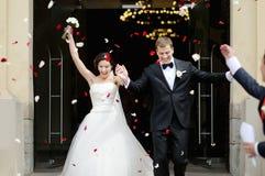 Gerade verheiratetes Paar lizenzfreies stockfoto
