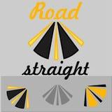 Gerades Logo der Straße stock abbildung