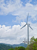 Gerador das energias eólicas Foto de Stock Royalty Free