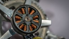 Gerador de enrolamento industrial da bobina do eletroímã imagens de stock