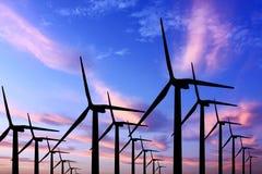 Gerador de turbina do vento fotografia de stock royalty free